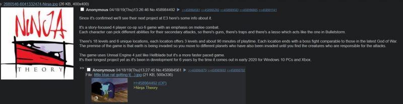 Τελικά ισχύουν οι φήμες για το νέο exclusive game της Ninja Theory?