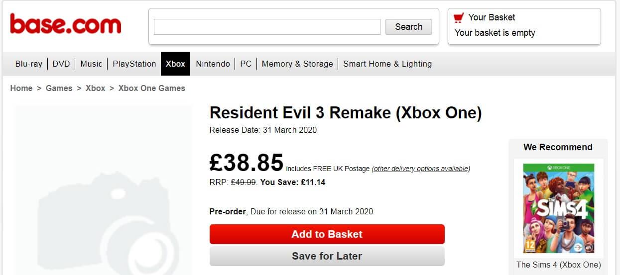 Εμφανίστηκε καταχώρηση σε κατάστημα του Resident Evil 3 Remake με ημερομηνία κυκλοφορίας!