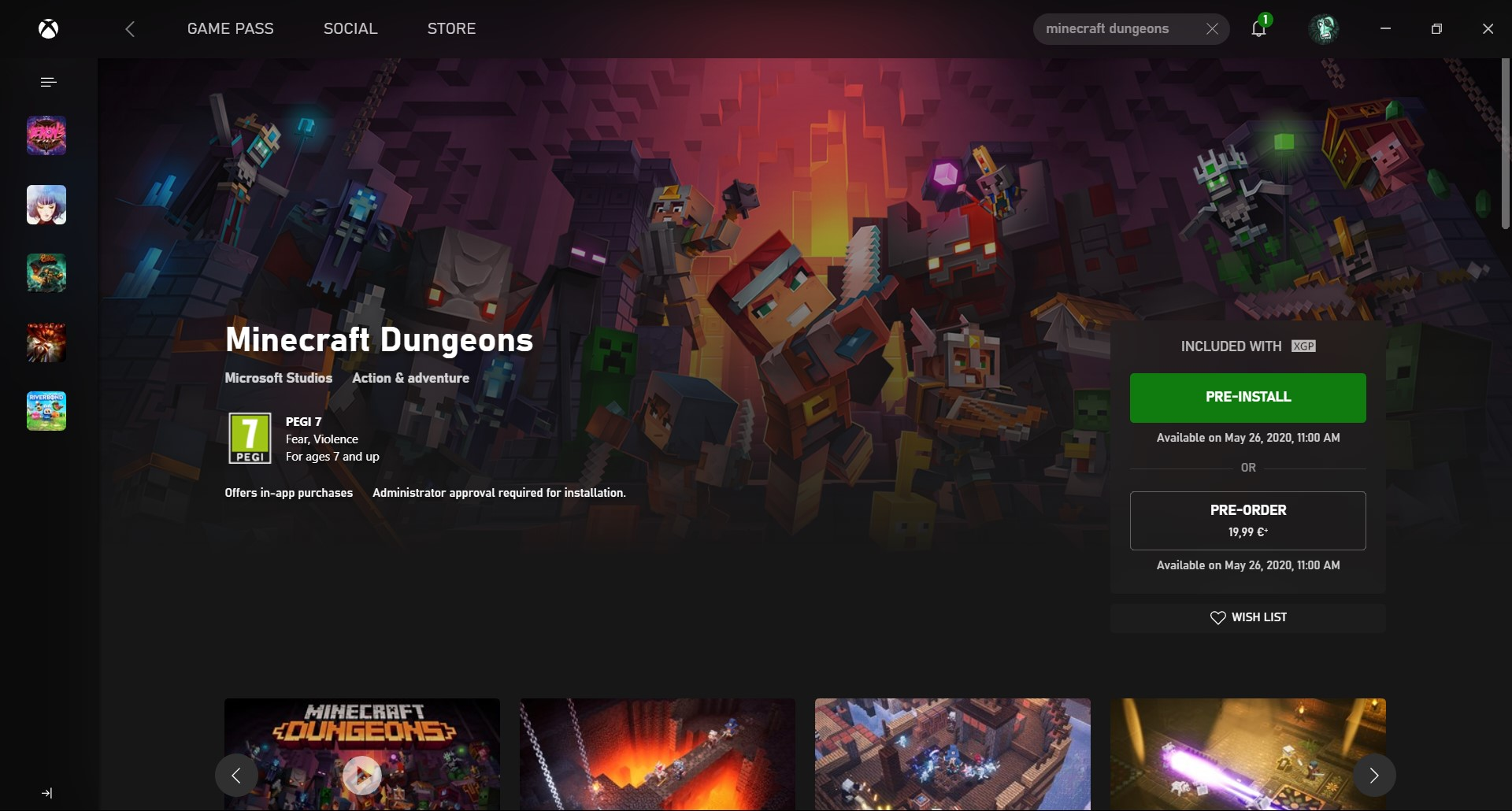 Minecraft Dungeons : Διαθέσιμος για Pre-Load ο νέος τίτλος των Mojang Studios