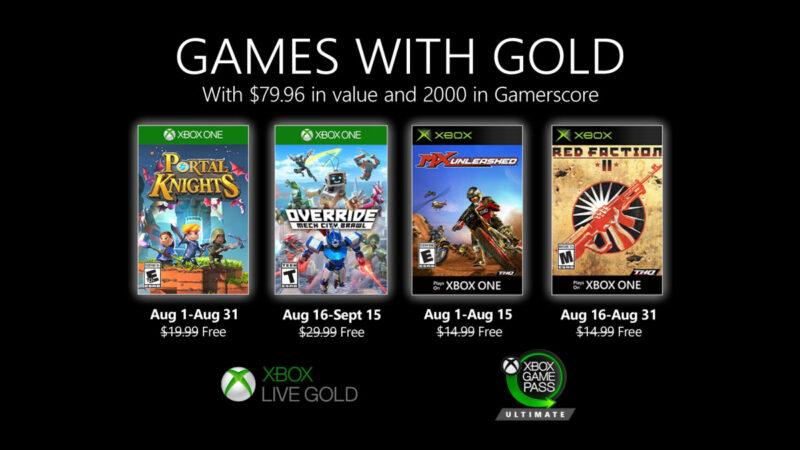Αυτά είναι τα δωρεάν παιχνίδια των Games with Gold Αυγούστου!