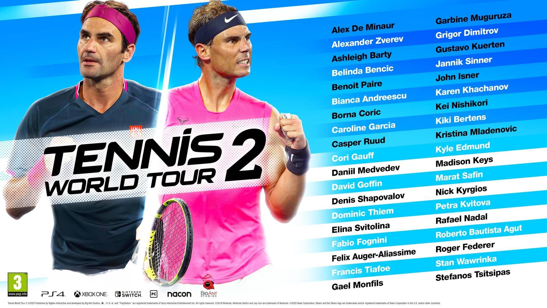 Ανακοινώθηκε το Roster του Tennis World Tour 2