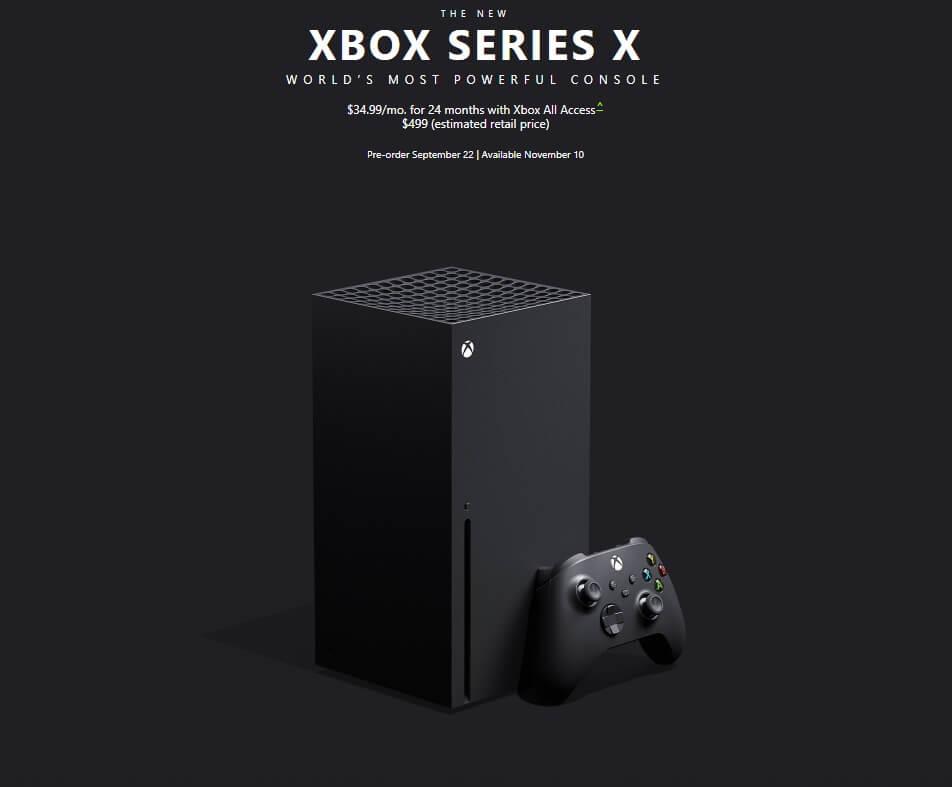 Ανακοινώθηκε η επίσημη τιμή και ημερομηνία κυκλοφορίας του XBOX Series X!