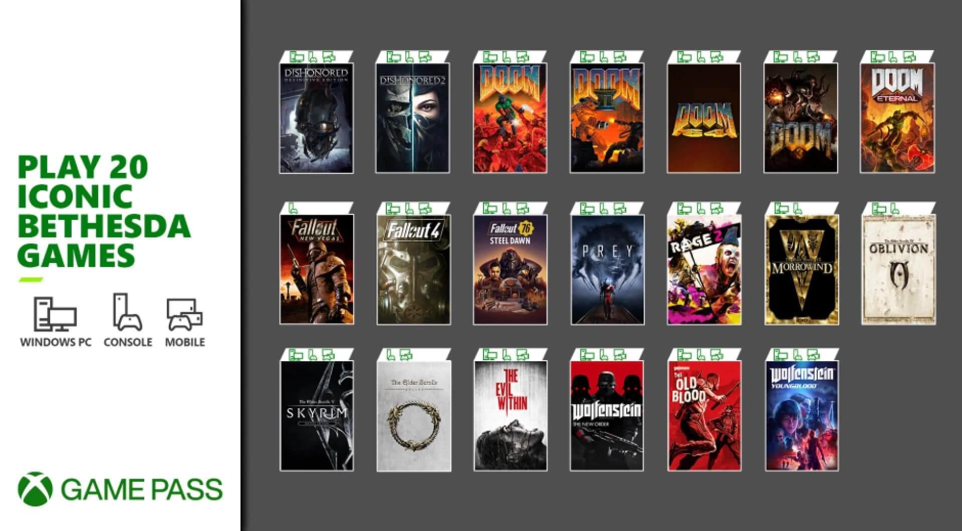 Αυτά είναι τα παιχνίδια της Bethesda που έρχονται στο XBOX Game Pass μετά την ολοκλήρωση της εξαγοράς!