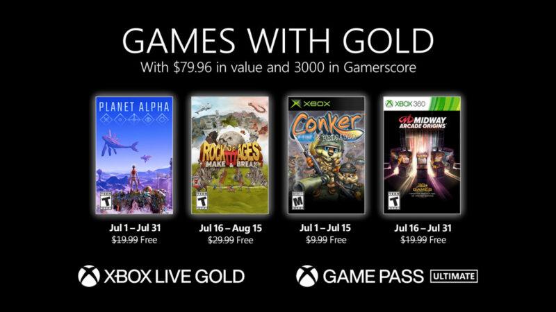 Ανακοινώθηκαν τα δωρεάν παιχνίδια των Games with Gold Ιουλίου